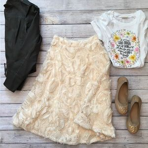 Anthropologie HD in Paris Tufted Blossoms Skirt 0